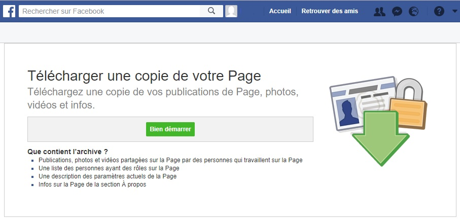 Archivage Facebook